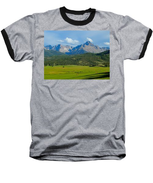 Elk Below Mount Sneffels Baseball T-Shirt
