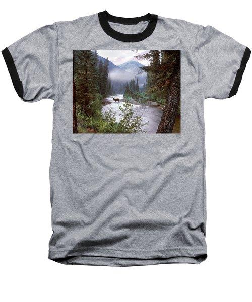 Elk Crossing 2 Baseball T-Shirt