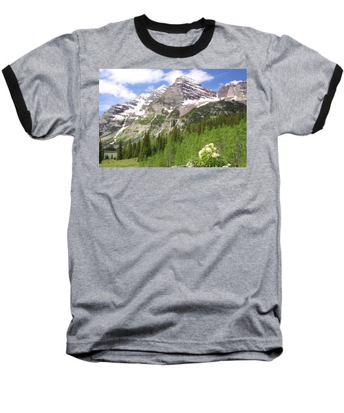 Elk Mountains Baseball T-Shirt by Eric Glaser