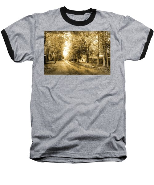 Elkmont Ghost Town Baseball T-Shirt by Michael Eingle