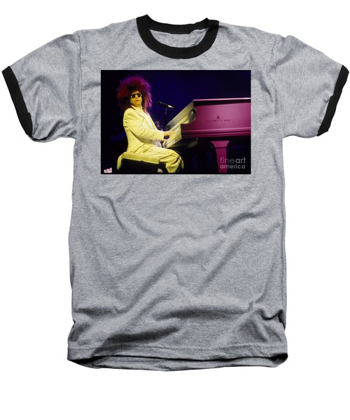Elton Baseball T-Shirt by David Plastik