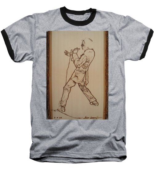 Elvis Presley - If I Can Dream Baseball T-Shirt by Sean Connolly