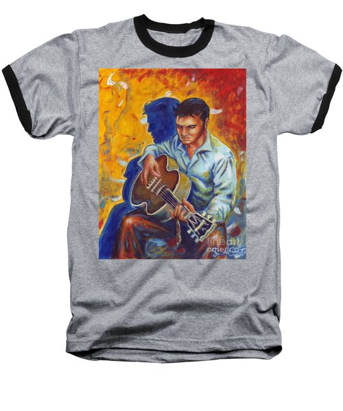 Elvis Presley- Shadow Duet Baseball T-Shirt