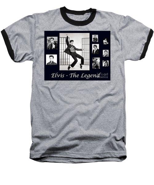 Elvis Presley - The Legend Baseball T-Shirt