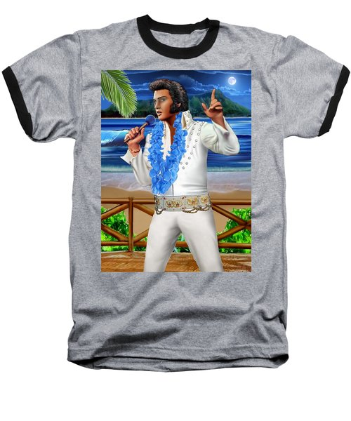 Elvis The Legend Baseball T-Shirt by Glenn Holbrook