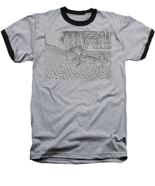 Baseball T-Shirt featuring the photograph Embossed Chain by Michael Porchik