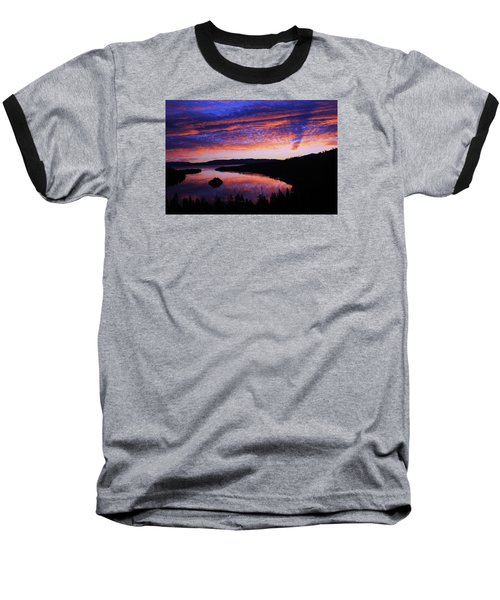 Baseball T-Shirt featuring the photograph Emerald Bay Awakens by Sean Sarsfield