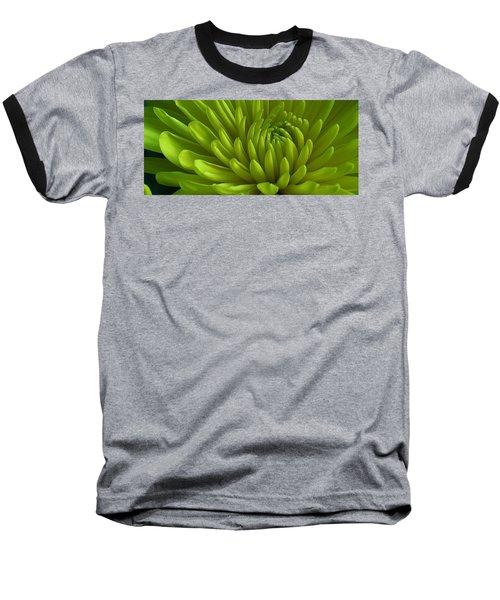 Emerald Dahlia Baseball T-Shirt by Bruce Bley