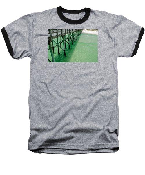 Baseball T-Shirt featuring the photograph Emerald Green Tide  by Susan  McMenamin