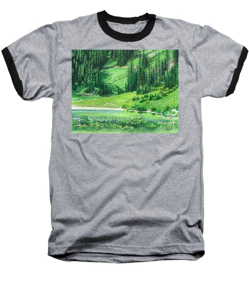 Emerald Lake Baseball T-Shirt by Barbara Jewell