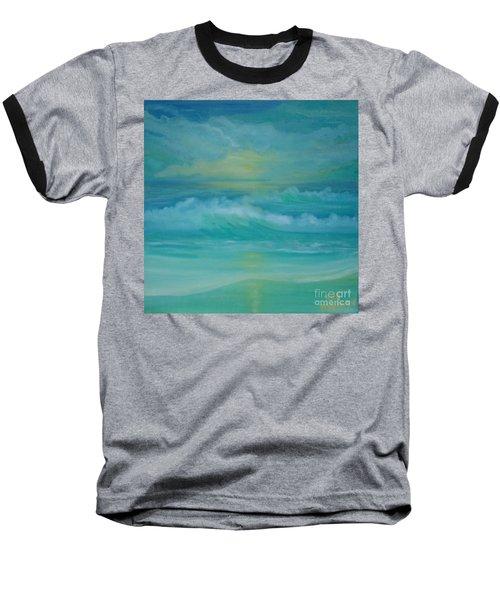 Emerald Waves Baseball T-Shirt by Holly Martinson