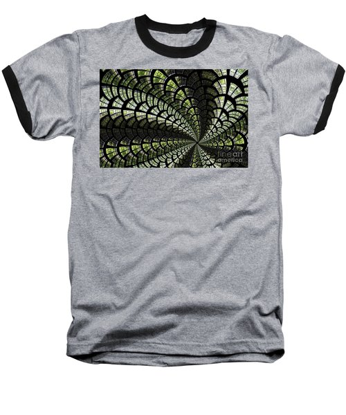 Baseball T-Shirt featuring the photograph Emerald Whirl. by Clare Bambers