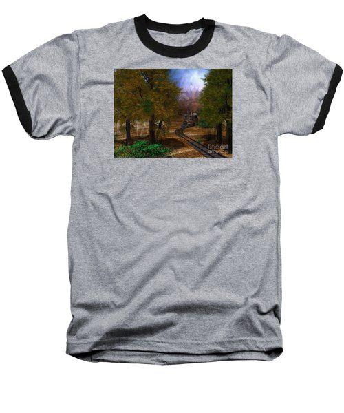 Emergence Baseball T-Shirt by Shari Nees