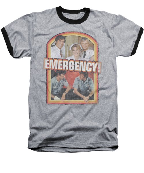 Emergency - Retro Cast Baseball T-Shirt