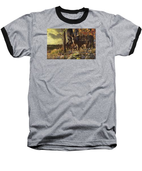 Eminence At The Forest Edge Baseball T-Shirt by Rob Corsetti