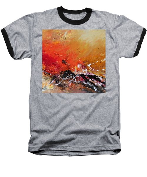 Baseball T-Shirt featuring the painting Emotion 2 by Ismeta Gruenwald