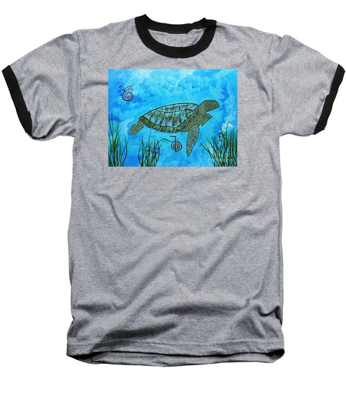 Emotional Healing With The Sea Turtle Baseball T-Shirt