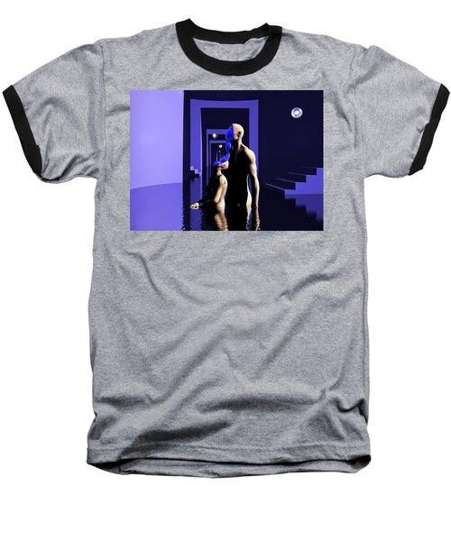 Baseball T-Shirt featuring the digital art Emotional Symbiosis by John Alexander