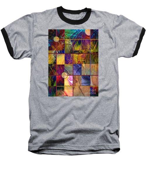 Emotive Tapestry Baseball T-Shirt by Allison Ashton