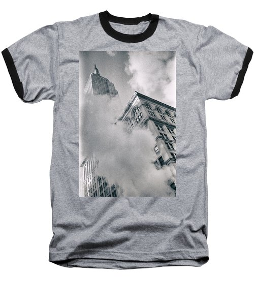 Empire State Building And Steam Baseball T-Shirt