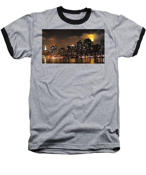Empire State Building From Long Island City Baseball T-Shirt