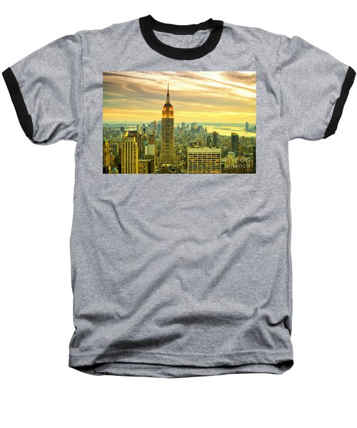 Empire State Building In The Evening Baseball T-Shirt