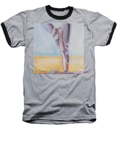 En Pointe Baseball T-Shirt by Donna Tuten