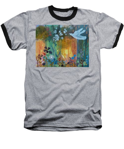 Baseball T-Shirt featuring the painting Encantador by Robin Maria Pedrero