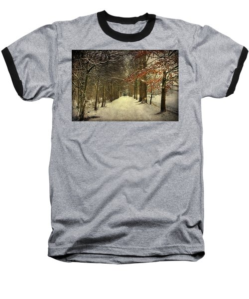 Enchanting Dutch Winter Landscape Baseball T-Shirt