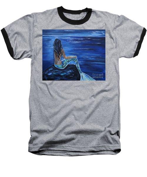 Enchanting Mermaid Baseball T-Shirt by Leslie Allen