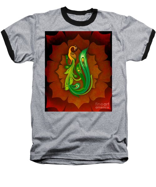 Enchanting Peacock 1 Baseball T-Shirt