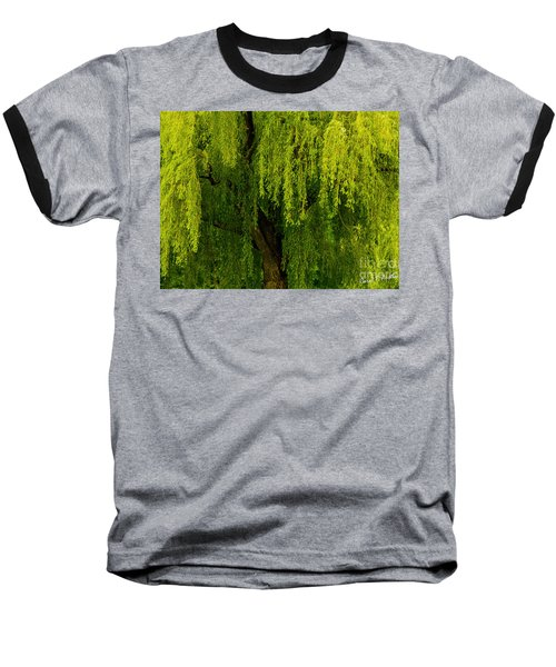 Enchanting Weeping Willow Tree Wall Art Baseball T-Shirt
