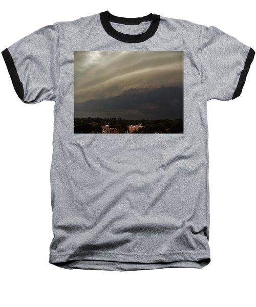 Baseball T-Shirt featuring the photograph Encroaching Shelf Cloud by Ed Sweeney
