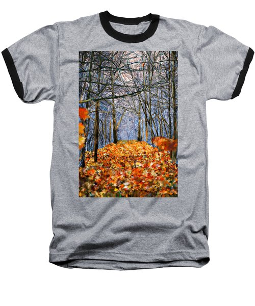 End Of Autumn Baseball T-Shirt by Bruce Nutting