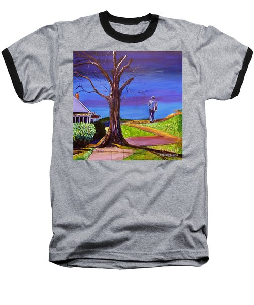 End Of Day Highway 98 Baseball T-Shirt by Ecinja Art Works