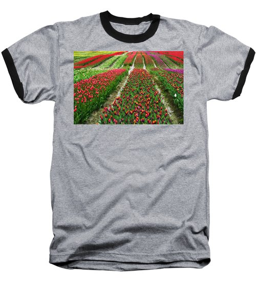 Endless Waves Of Tulips Baseball T-Shirt by Eti Reid