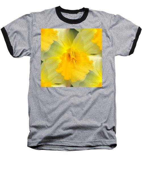 Baseball T-Shirt featuring the photograph Endless Yellow Daffodil by Judy Palkimas