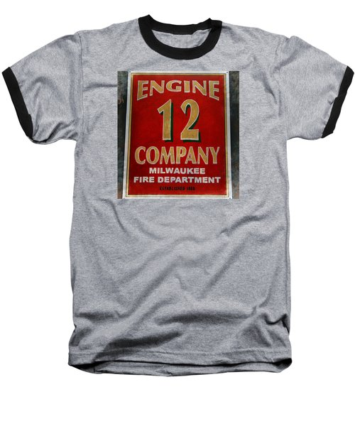 Engine 12 Baseball T-Shirt