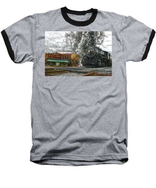 Engine 734 On The Western Maryland Scenic Railroad  Baseball T-Shirt