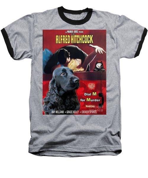 English Cocker Spaniel Art - Dial M For Murder Baseball T-Shirt