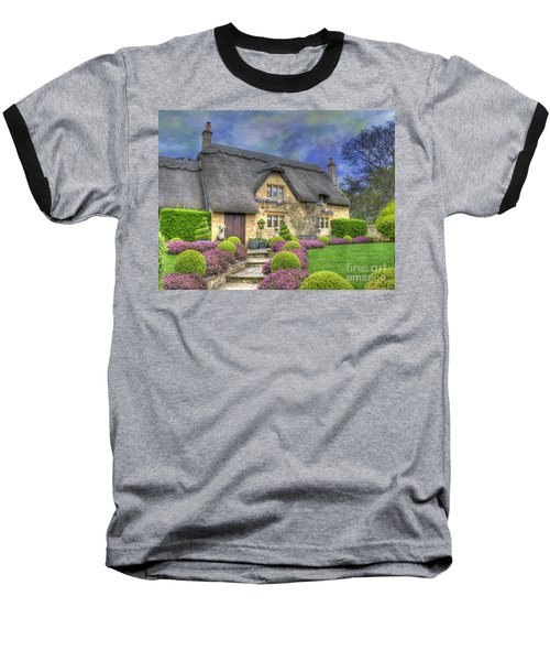 English Country Cottage Baseball T-Shirt by Juli Scalzi