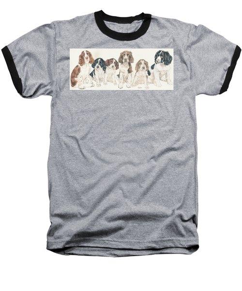 English Springer Spaniel Puppies Baseball T-Shirt