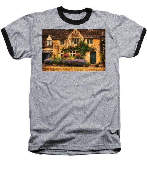 English Stone Cottage Baseball T-Shirt