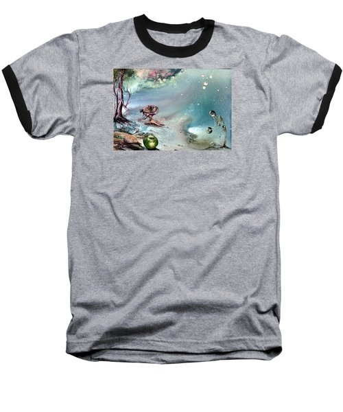 Baseball T-Shirt featuring the painting Enigma by Mikhail Savchenko