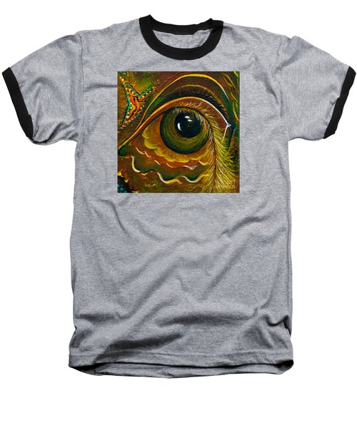 Baseball T-Shirt featuring the painting Enigma Spirit Eye by Deborha Kerr