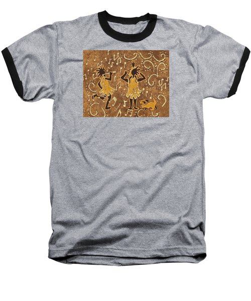 Enjoying The Music Baseball T-Shirt by Katherine Young-Beck