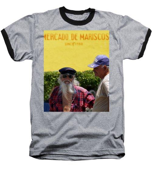 Ensenada Harbour And Fish Market 32 Baseball T-Shirt