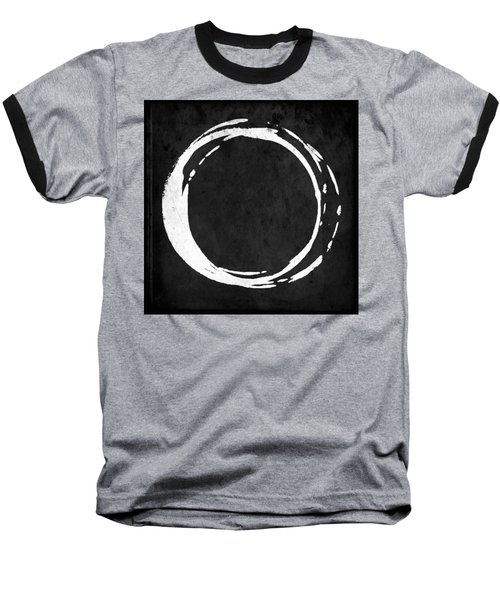 Enso No. 107 White On Black Baseball T-Shirt