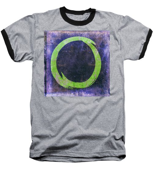 Enso No. 108 Green On Purple Baseball T-Shirt