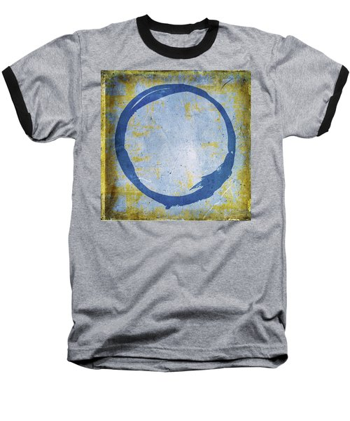 Enso No. 109 Blue On Blue Baseball T-Shirt
